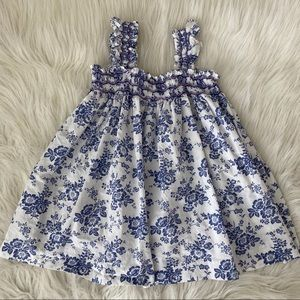 Edgehill Collection Blue & White Dress - Size 3T
